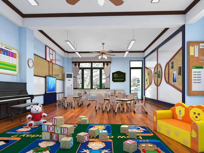 幼儿园项目-深圳泛海拉菲幼儿园--大班教室装修效果图
