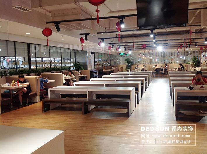 广东深圳天虹商场内美食街