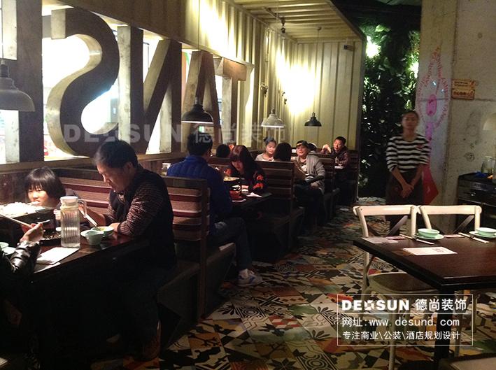 深圳福田餐厅装修设计,麻辣香锅店面装修效果图高清图片