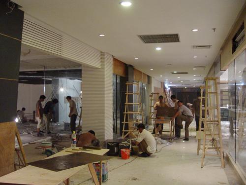 商场装修设计-改造工程现场施工实况