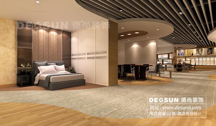 深圳宝安展厅装修设计效果图-led灯具展厅